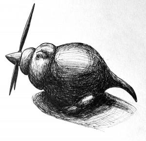 pentekening propellor verkleind
